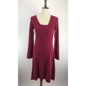 Horny Toad Dress Small Red Shift Surplice B54-13Z